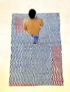 boredom carpet with designer on it